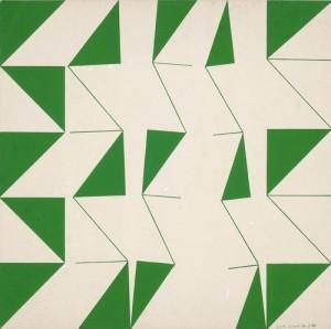 Judith Lauand green geometric