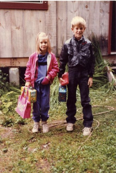 first day of school (nice lunchboxes!)