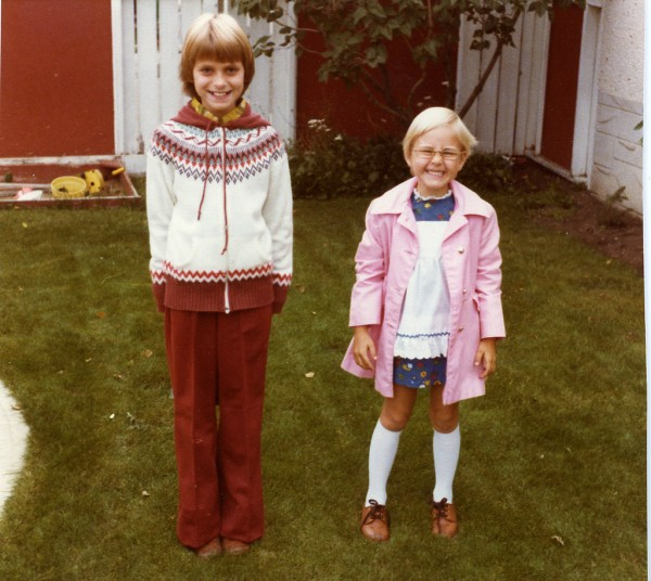first day of school with ingrid marge tremblay 1978 flickr