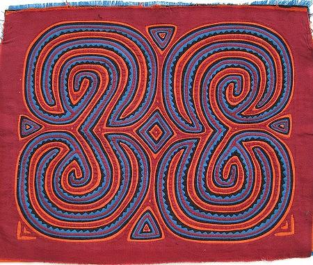 circulcar geometric mola fabric pattern