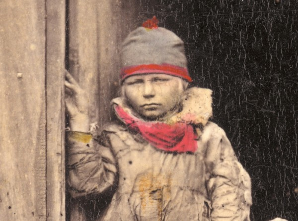sami child in doorway
